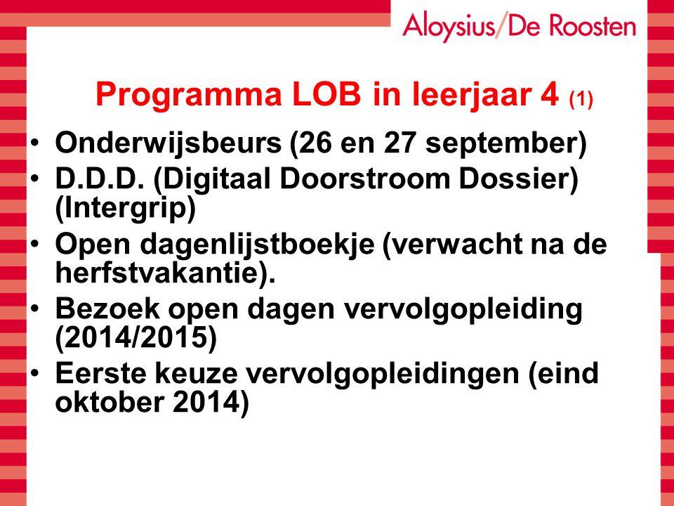 Programma LOB in leerjaar 4 (1)