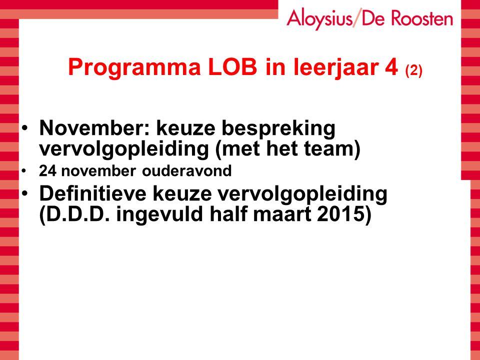 Programma LOB in leerjaar 4 (2)