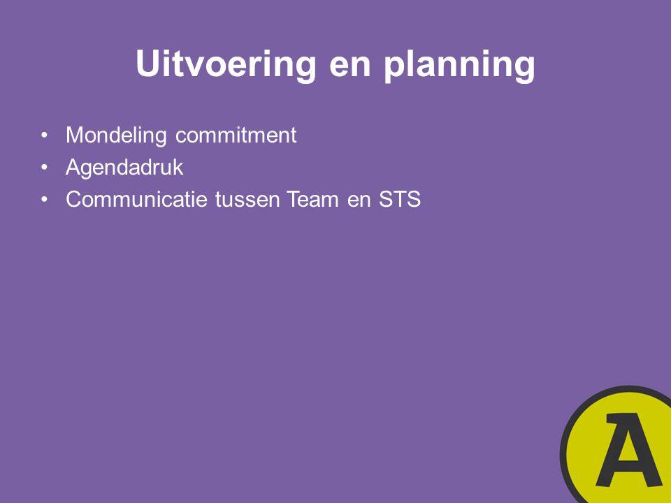 Uitvoering en planning