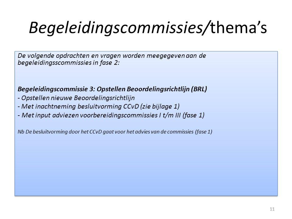 Begeleidingscommissies/thema's