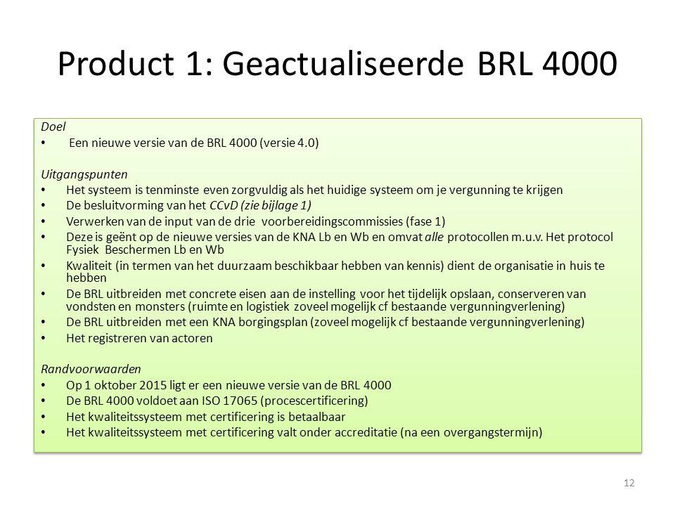 Product 1: Geactualiseerde BRL 4000