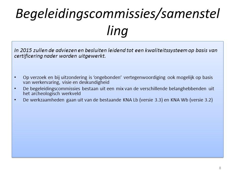 Begeleidingscommissies/samenstelling