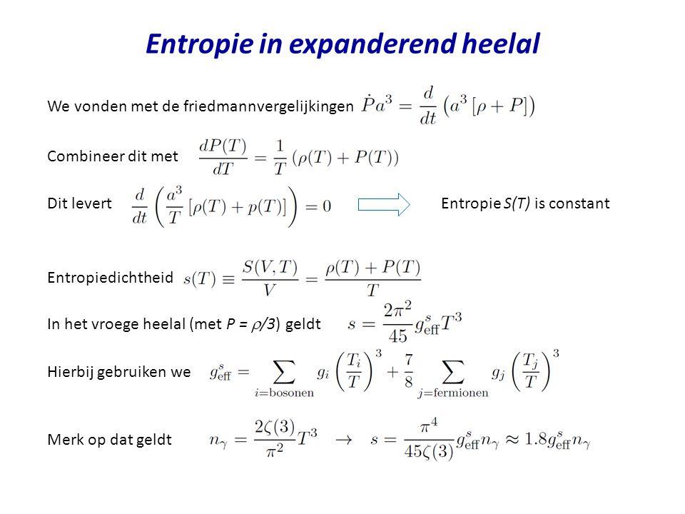 Entropie in expanderend heelal