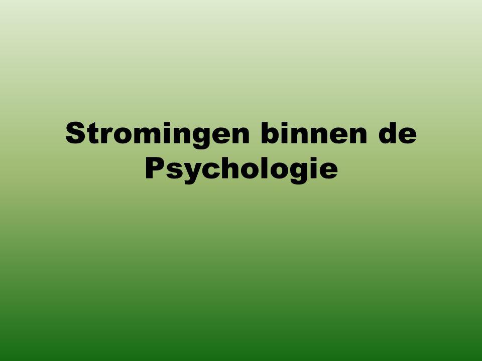 Stromingen binnen de Psychologie