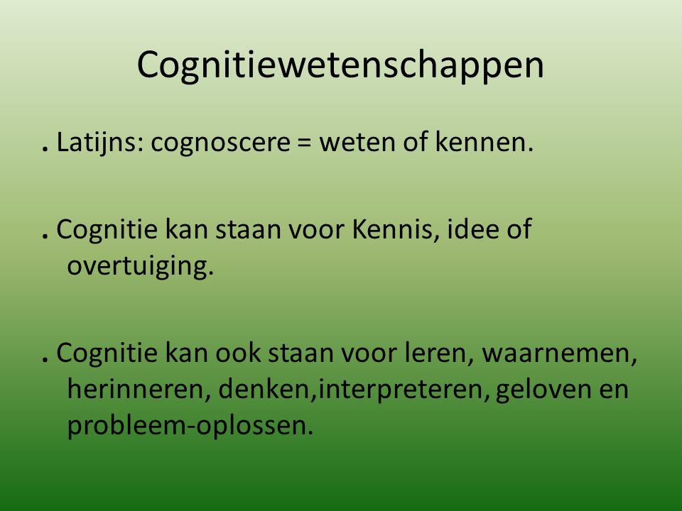 Cognitiewetenschappen