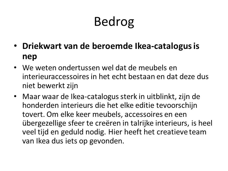 Bedrog Driekwart van de beroemde Ikea-catalogus is nep