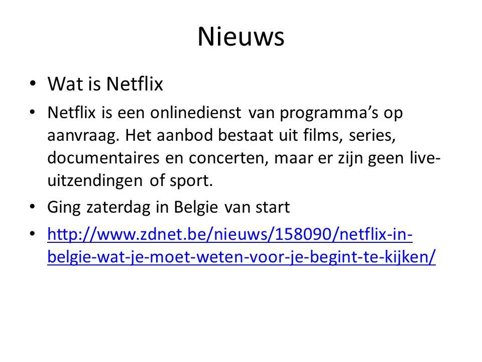 Nieuws Wat is Netflix.