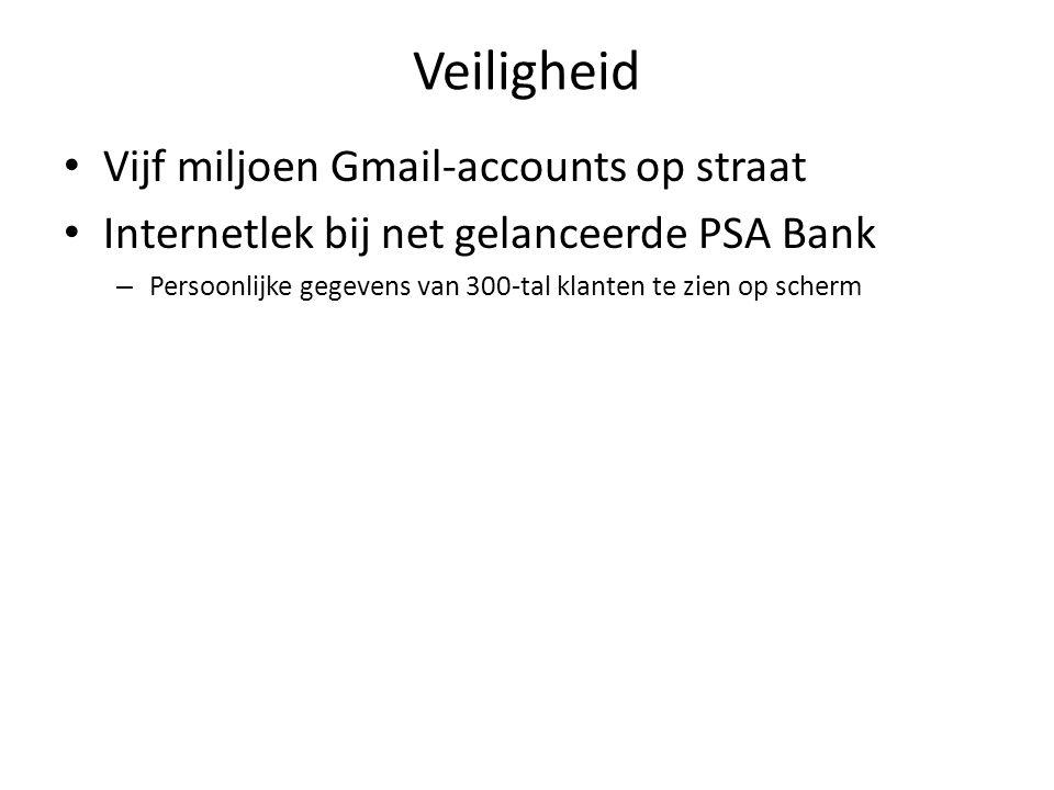 Veiligheid Vijf miljoen Gmail-accounts op straat