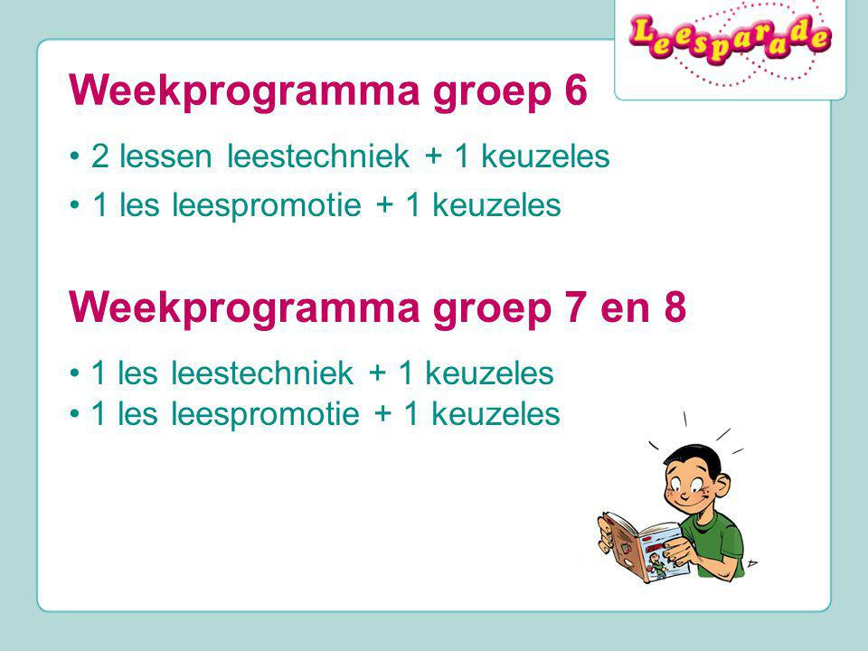 Weekprogramma groep 7 en 8