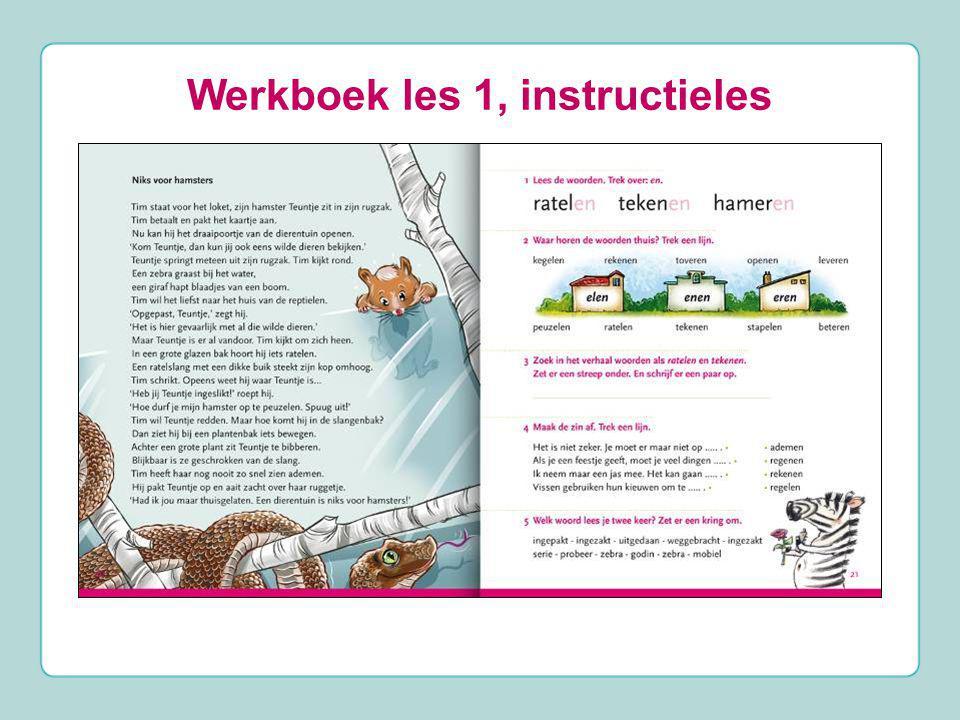 Werkboek les 1, instructieles