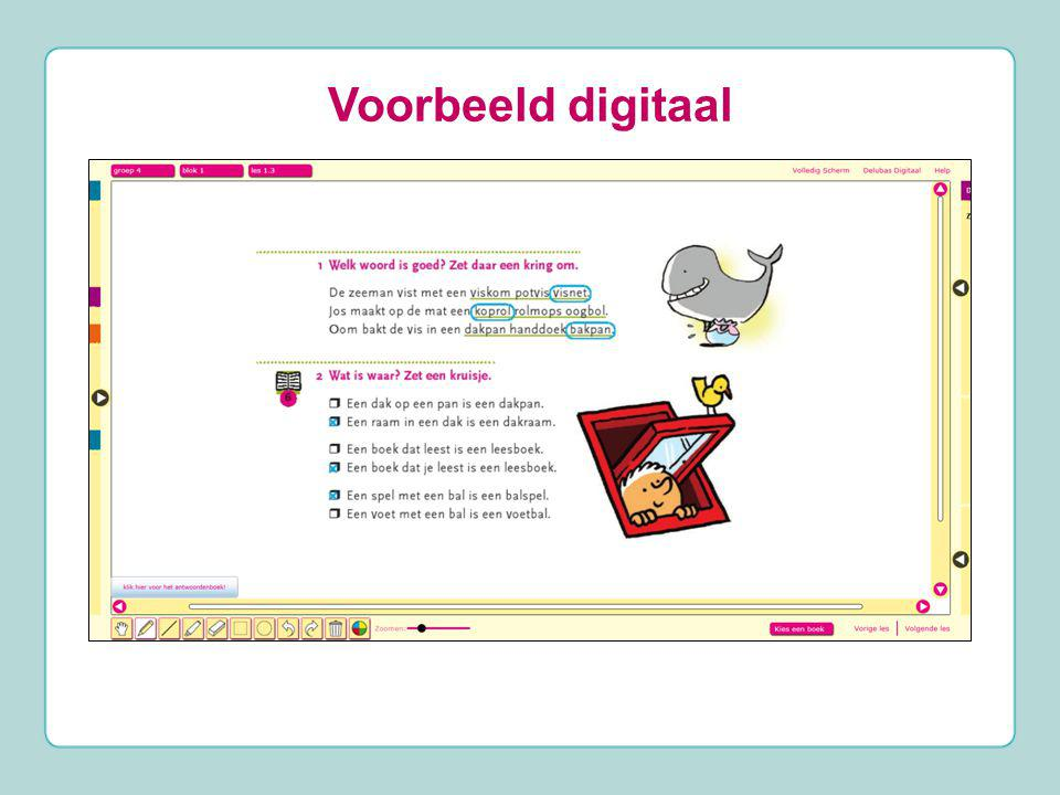 Voorbeeld digitaal