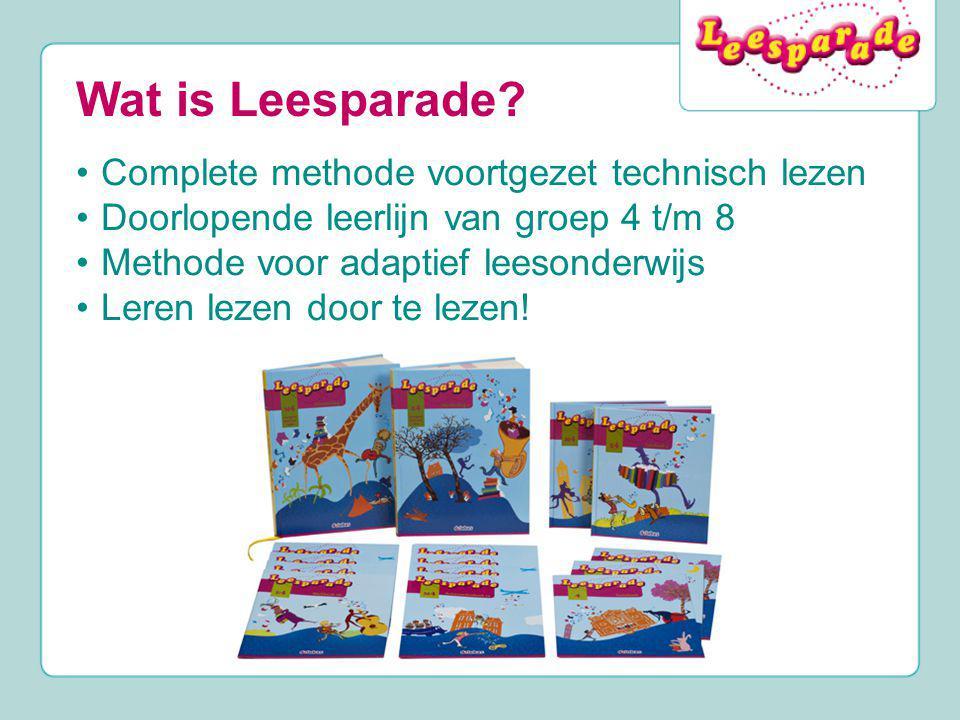 Wat is Leesparade Complete methode voortgezet technisch lezen