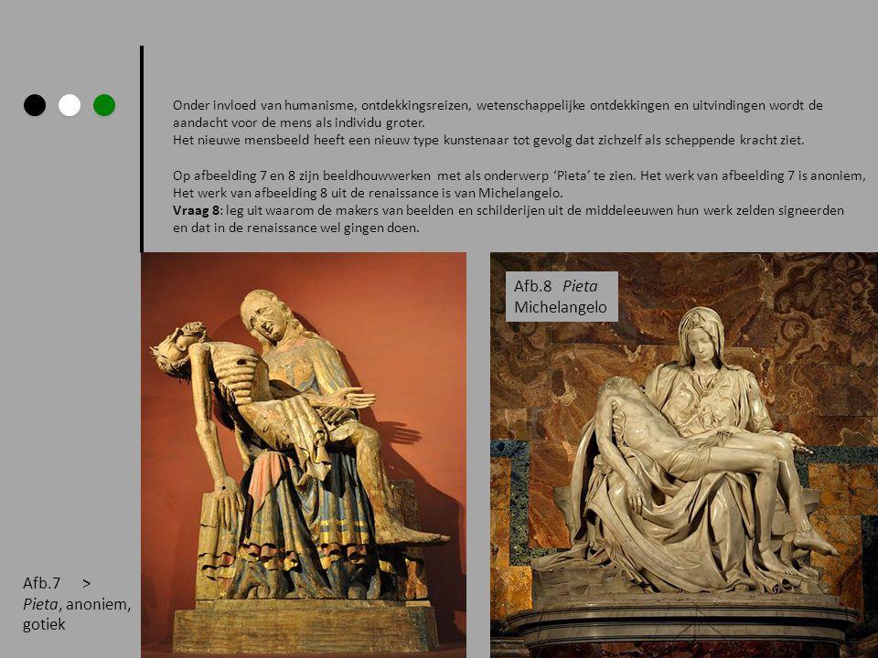 Afb.8 Pieta Michelangelo Afb.7 > Pieta, anoniem, gotiek