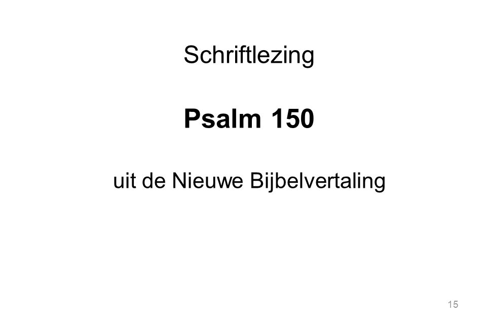 uit de Nieuwe Bijbelvertaling