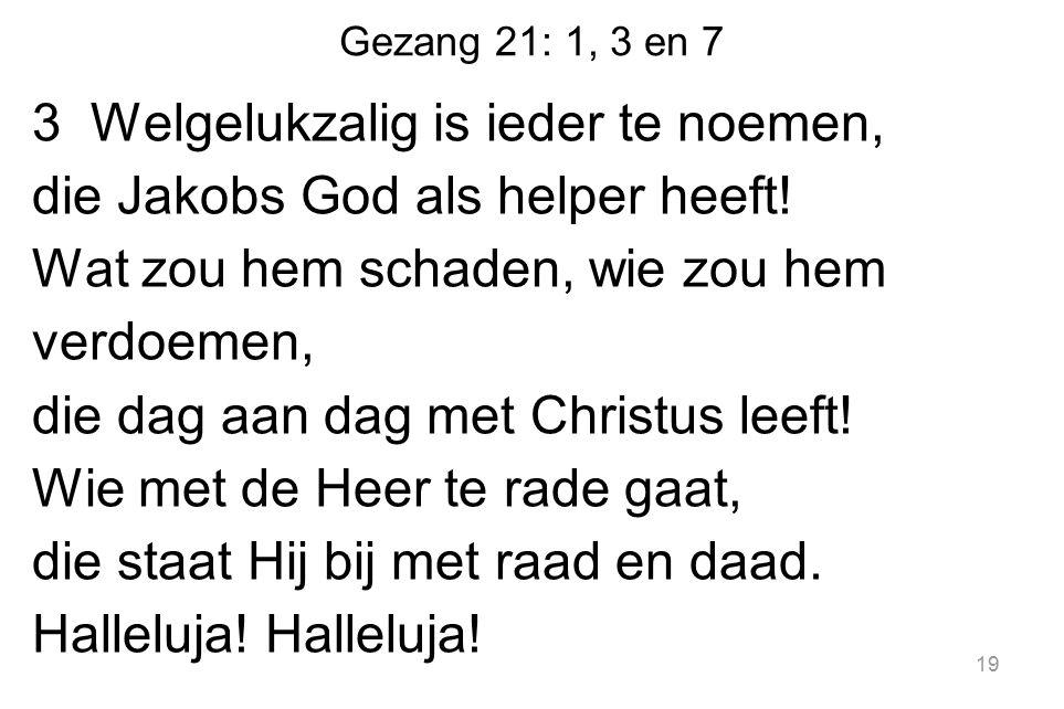 Gezang 21: 1, 3 en 7