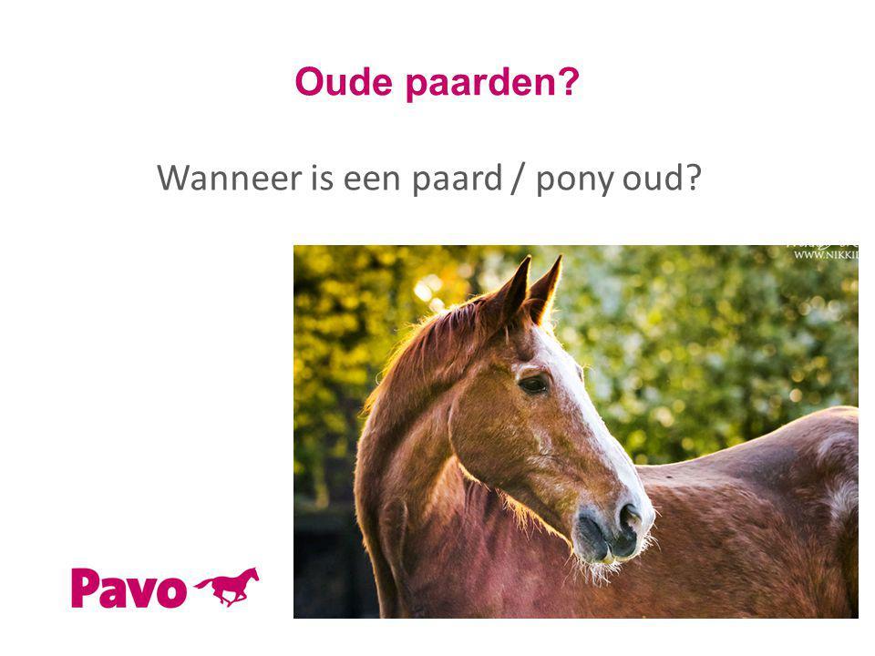 Wanneer is een paard / pony oud