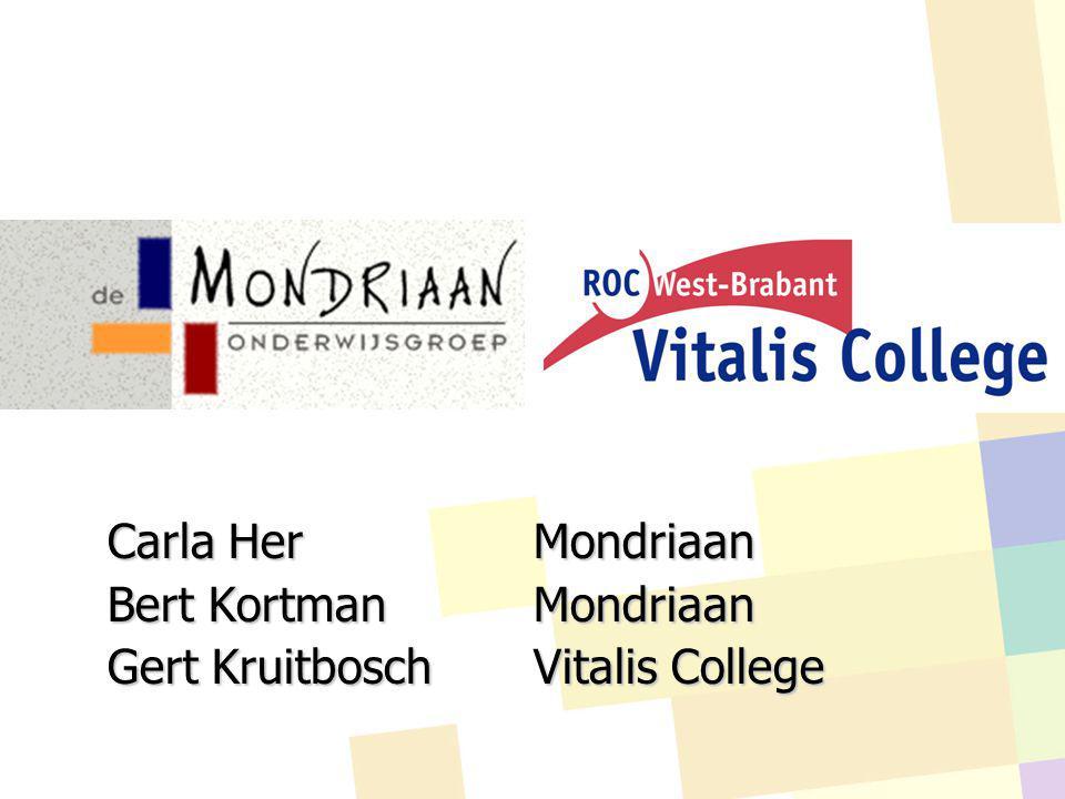 Carla Her Mondriaan Bert Kortman Mondriaan Gert Kruitbosch Vitalis College