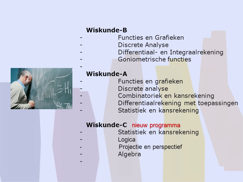 Wiskunde-B. - Functies en Grafieken. - Discrete Analyse.
