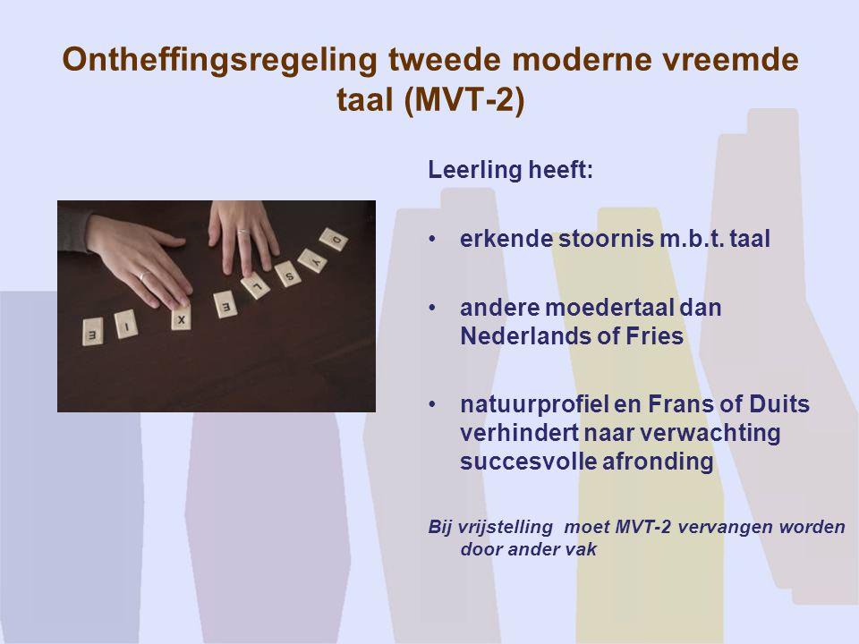 Ontheffingsregeling tweede moderne vreemde taal (MVT-2)