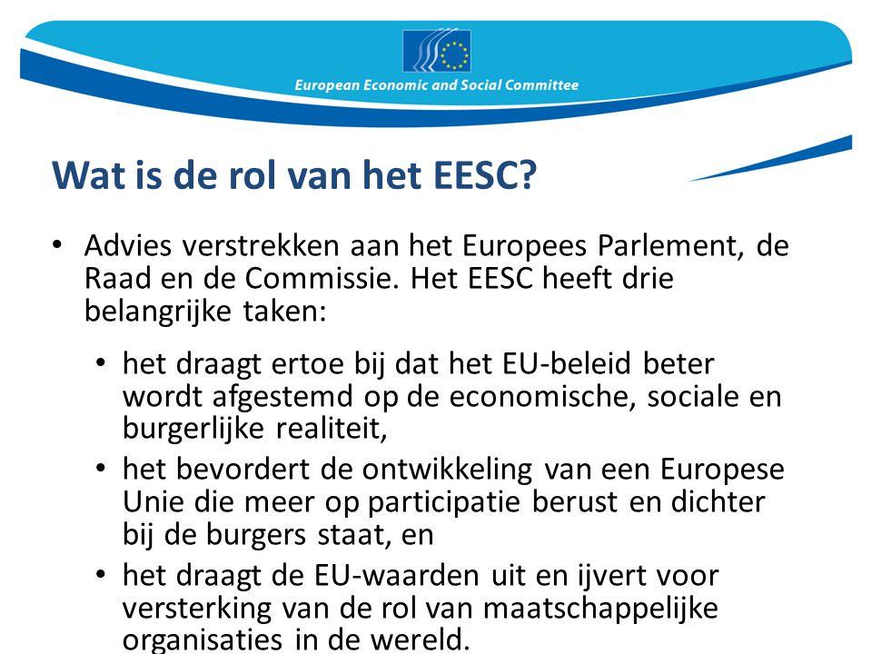 Wat is de rol van het EESC