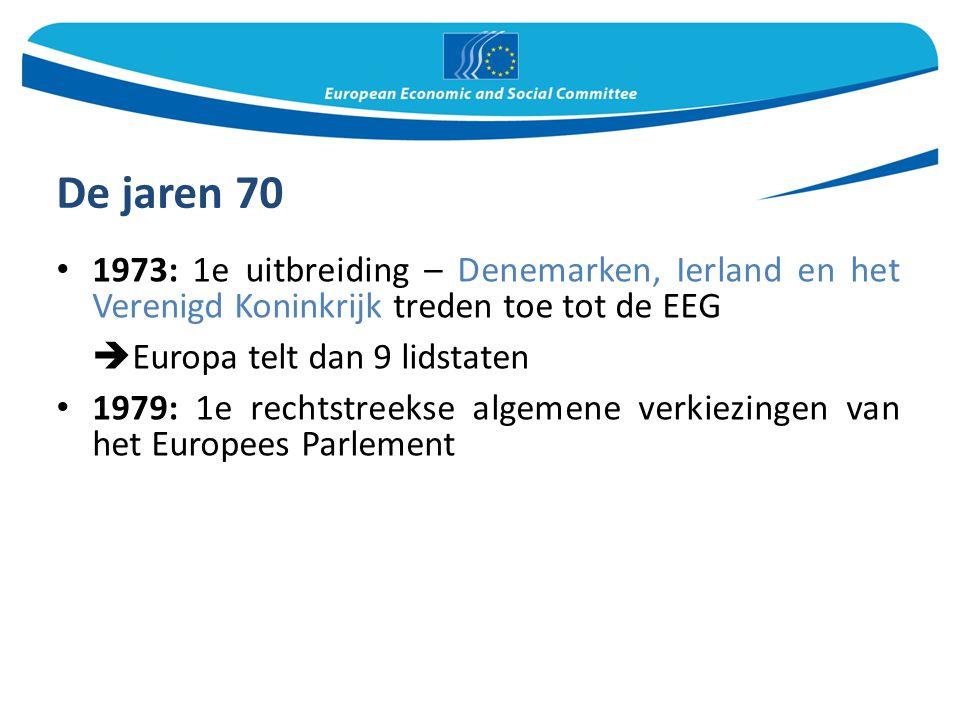 De jaren 70 Europa telt dan 9 lidstaten