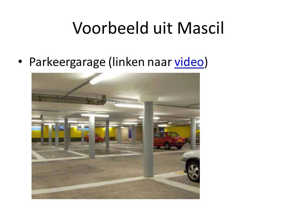 Voorbeeld uit Mascil Parkeergarage (linken naar video)