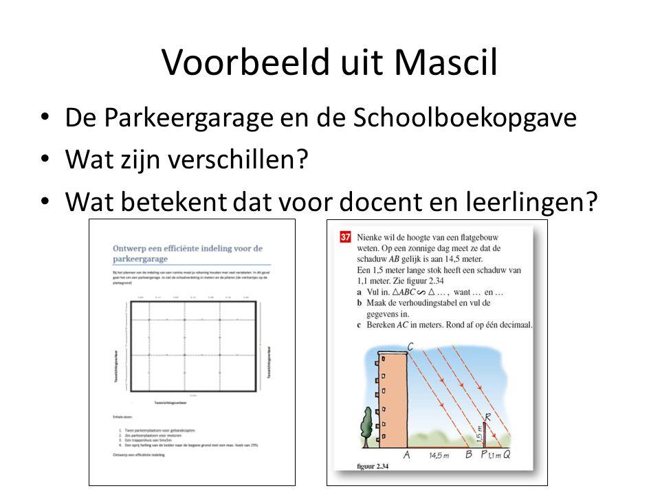 Voorbeeld uit Mascil De Parkeergarage en de Schoolboekopgave
