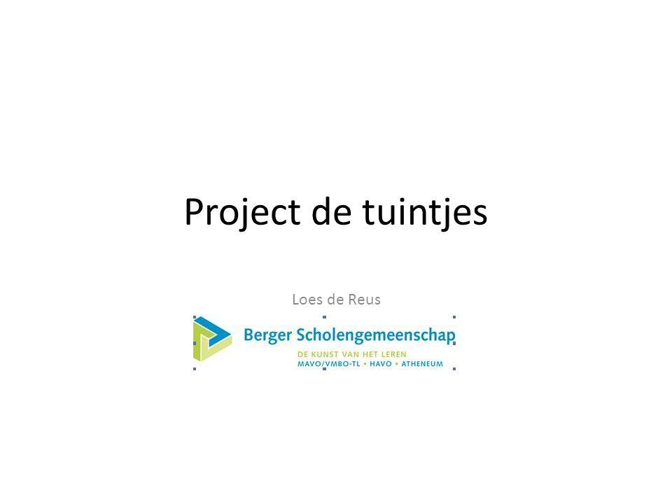 Project de tuintjes Loes de Reus