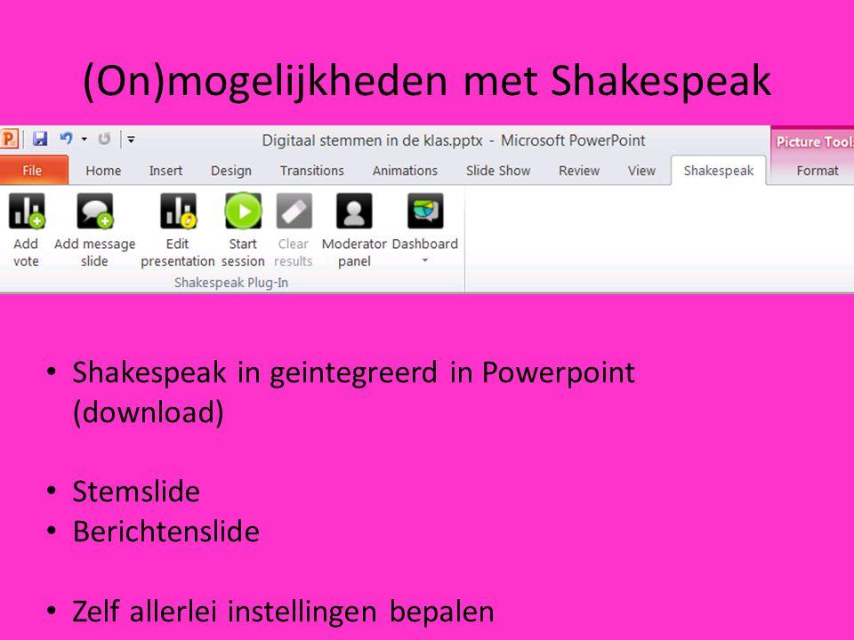 (On)mogelijkheden met Shakespeak