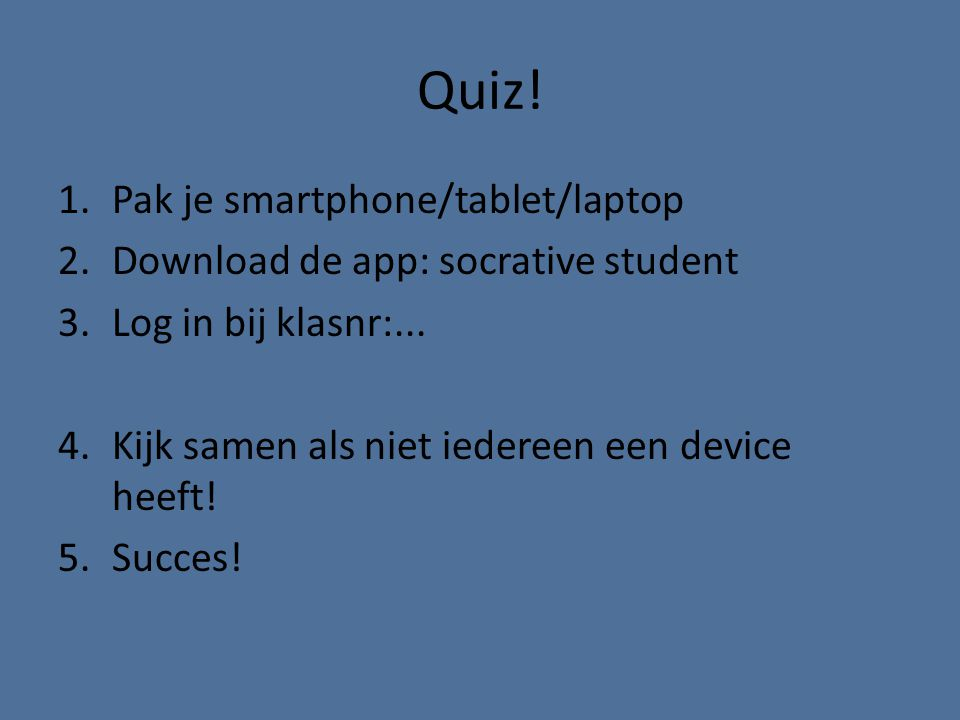 Quiz! Pak je smartphone/tablet/laptop
