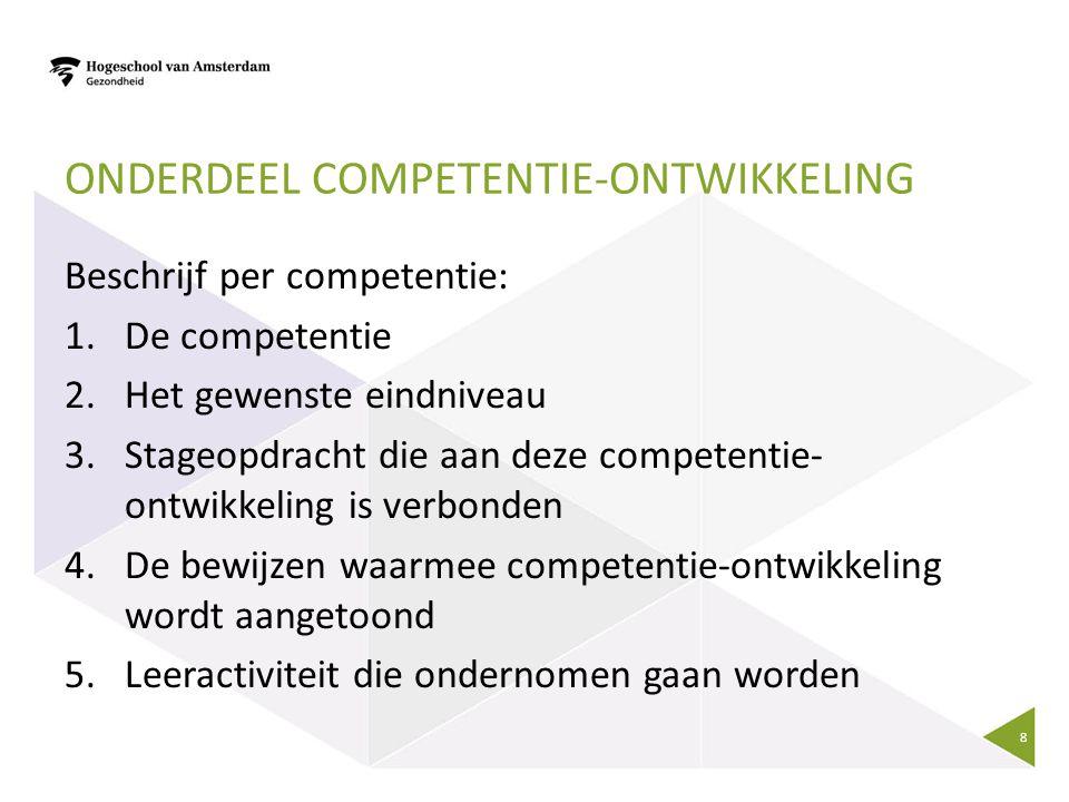 Onderdeel competentie-ontwikkeling