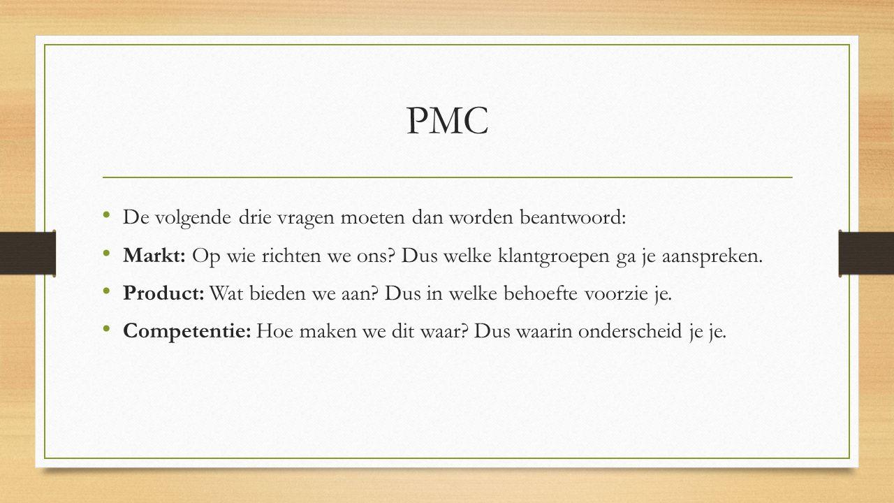 PMC De volgende drie vragen moeten dan worden beantwoord: