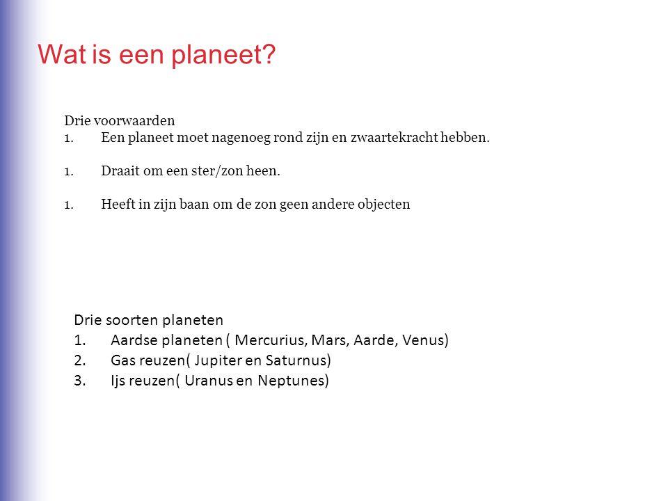 Wat is een planeet Drie soorten planeten