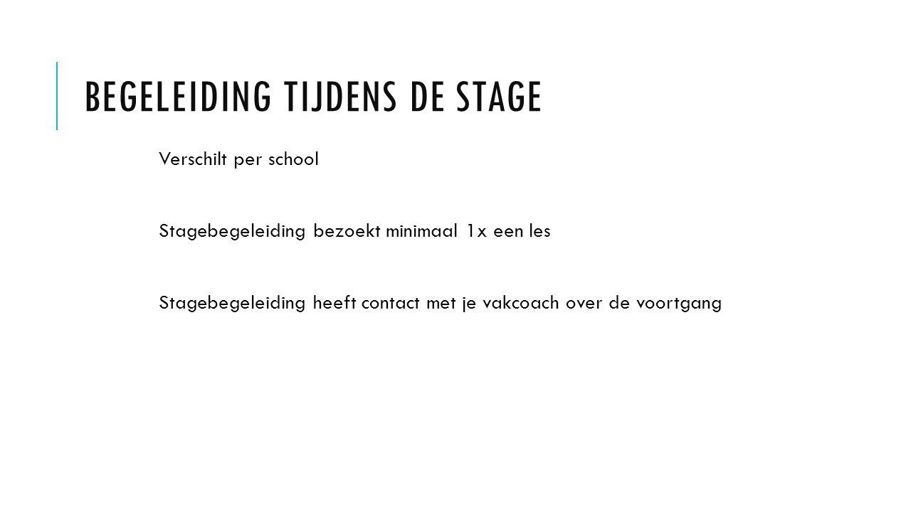 Begeleiding tijdens de stage
