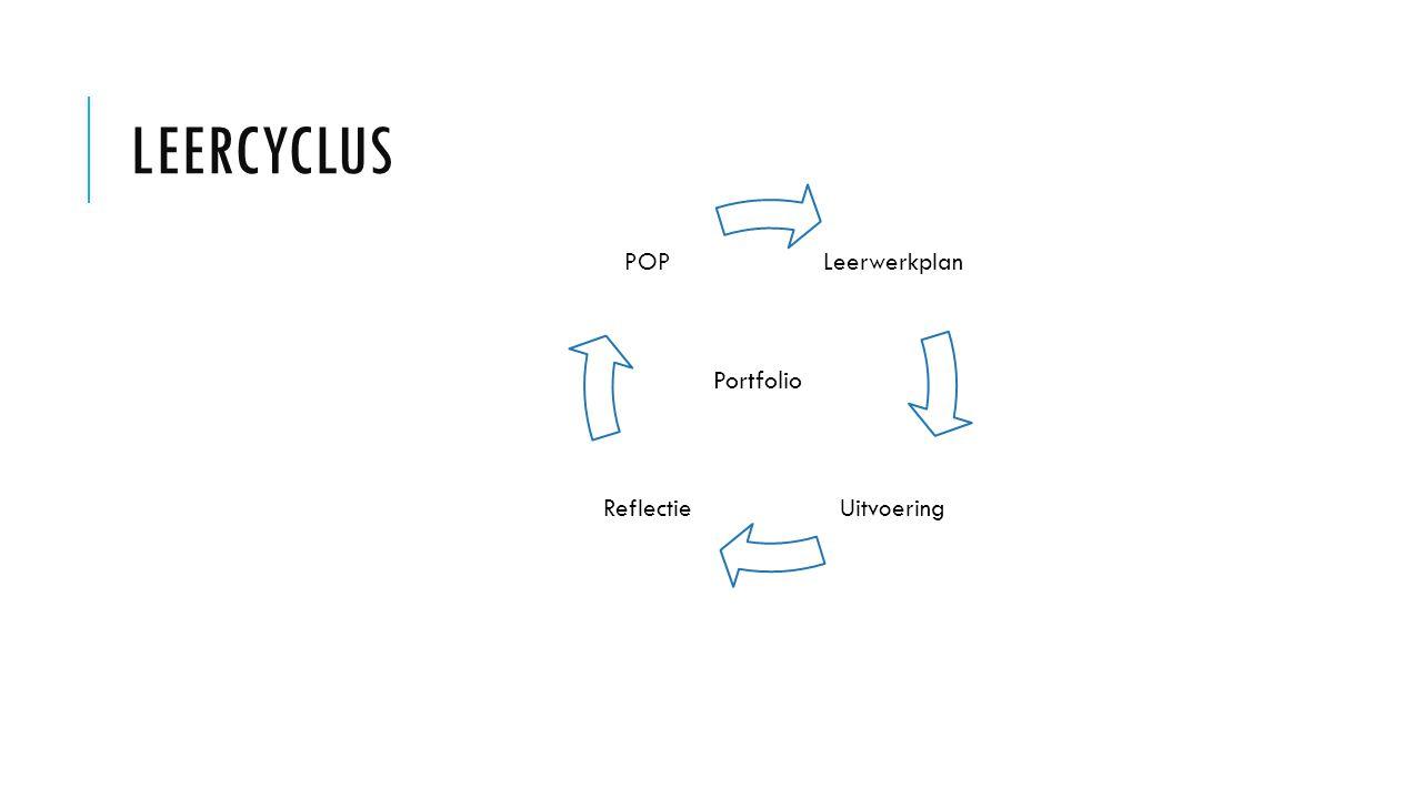 Leercyclus Leerwerkplan Uitvoering Reflectie POP Portfolio