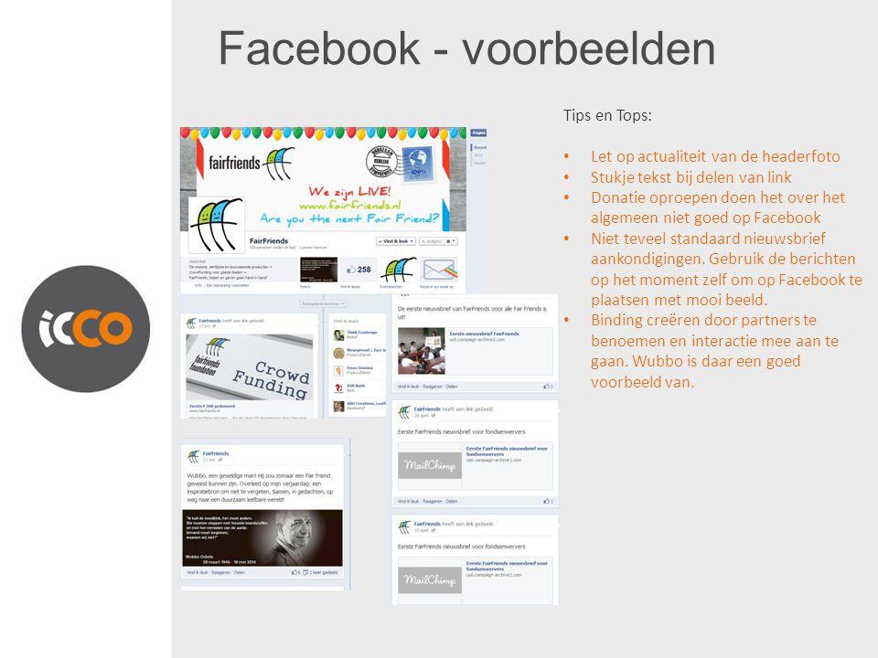 Facebook - voorbeelden