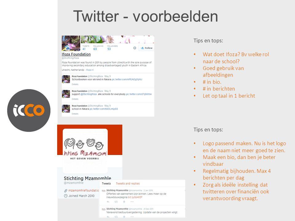 Twitter - voorbeelden Tips en tops: