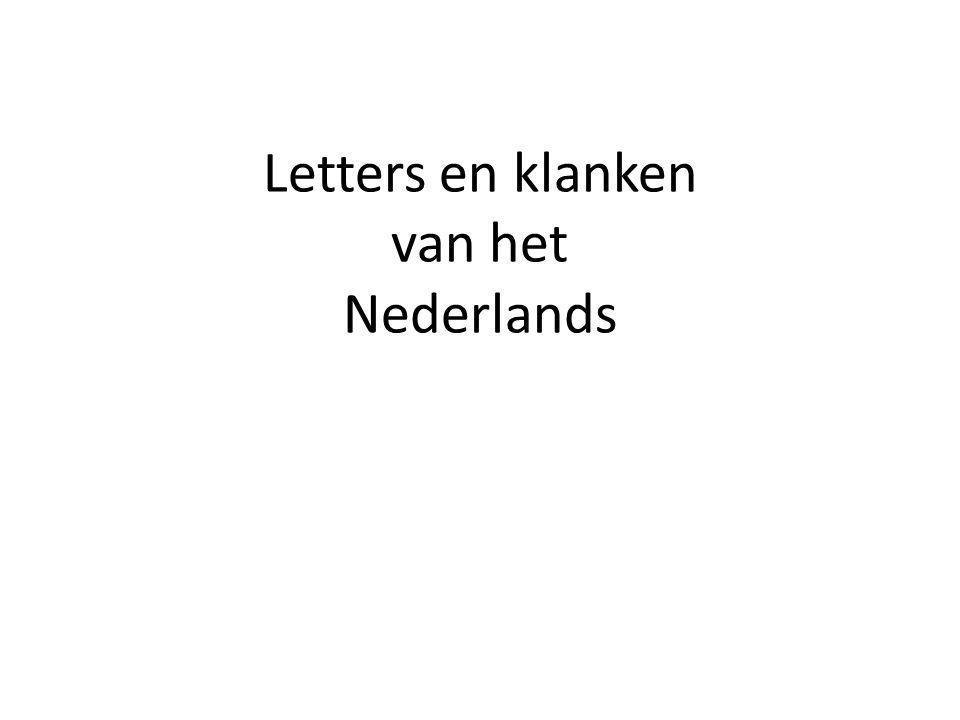 Letters en klanken van het Nederlands