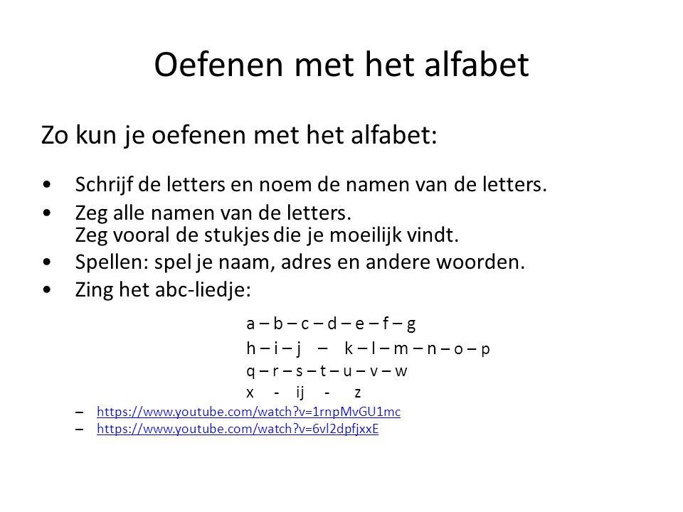 Oefenen met het alfabet