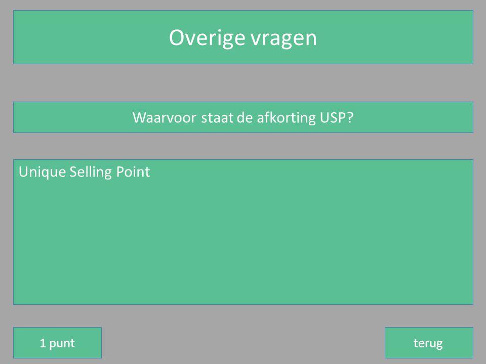 Waarvoor staat de afkorting USP