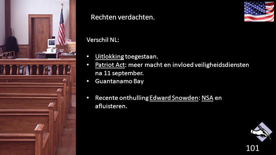 Rechten verdachten. Verschil NL: Uitlokking toegestaan.