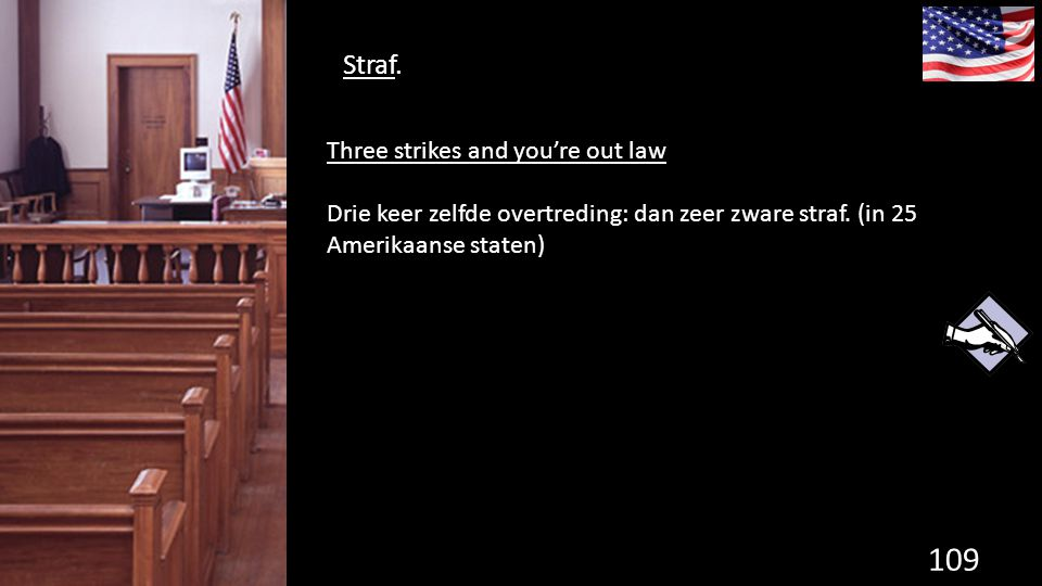 Straf. Three strikes and you're out law