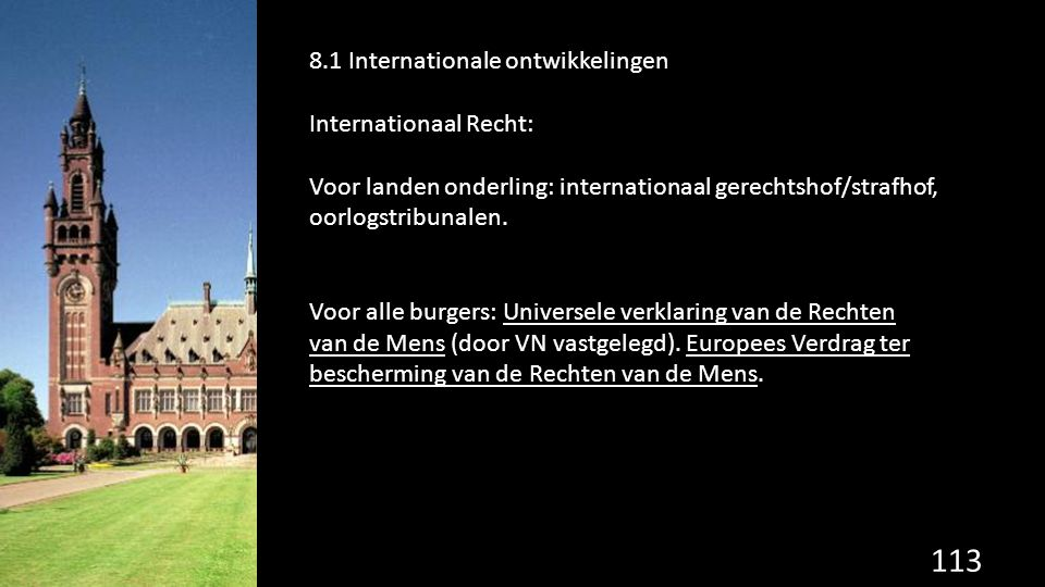 8.1 Internationale ontwikkelingen