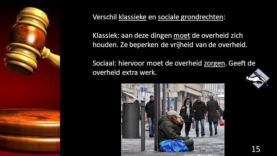 Verschil klassieke en sociale grondrechten: