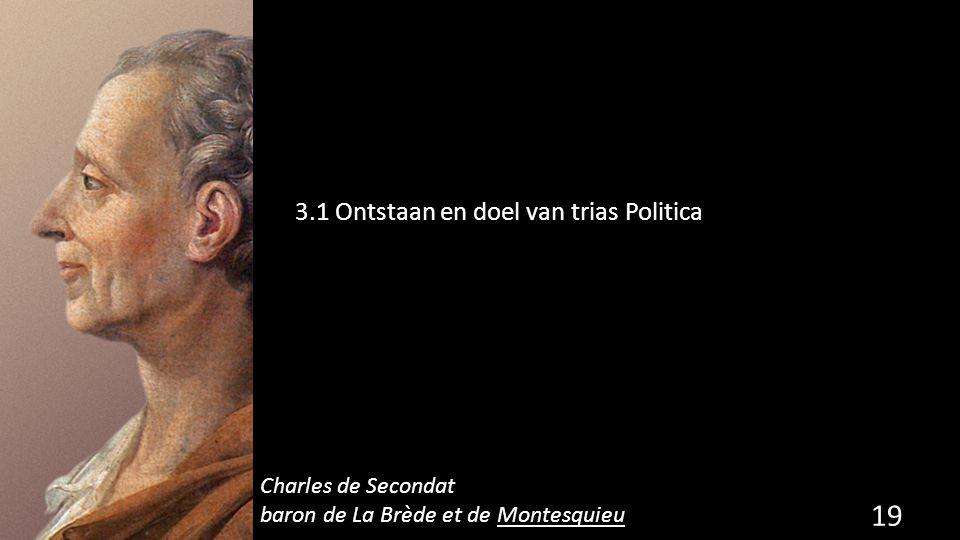 3.1 Ontstaan en doel van trias Politica