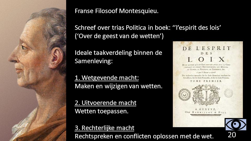 Franse Filosoof Montesquieu.