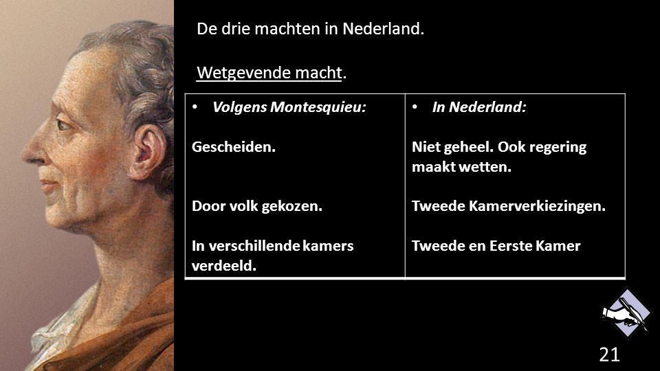 De drie machten in Nederland. Wetgevende macht.