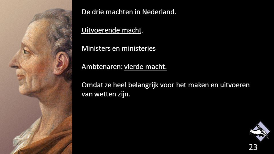 De drie machten in Nederland. Uitvoerende macht.