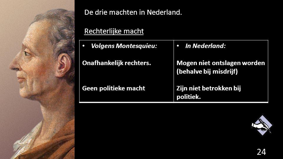 De drie machten in Nederland. Rechterlijke macht