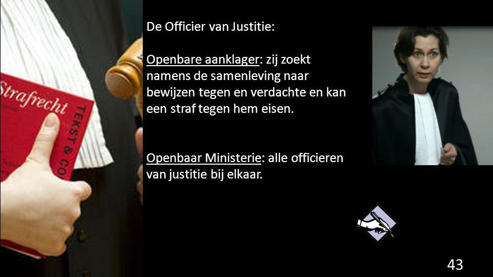 De Officier van Justitie: